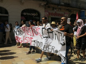 Protest in the south of France
