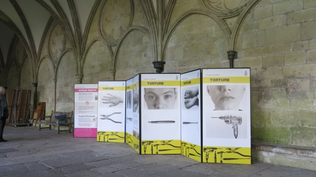 Display in the cloister