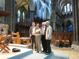 David Davis MP with Kate Allen, Salisbury Cathedral