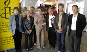 Group members and speakers at the Playhouse