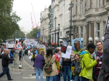 Members of the group took part in the London Refugee march last year